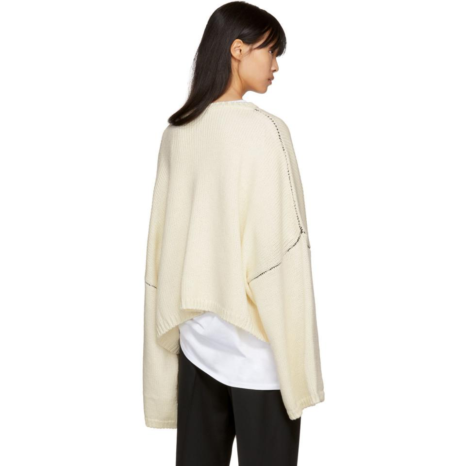 Lyst Raf Simons Off White Oversized I Love Ny Sweater In White