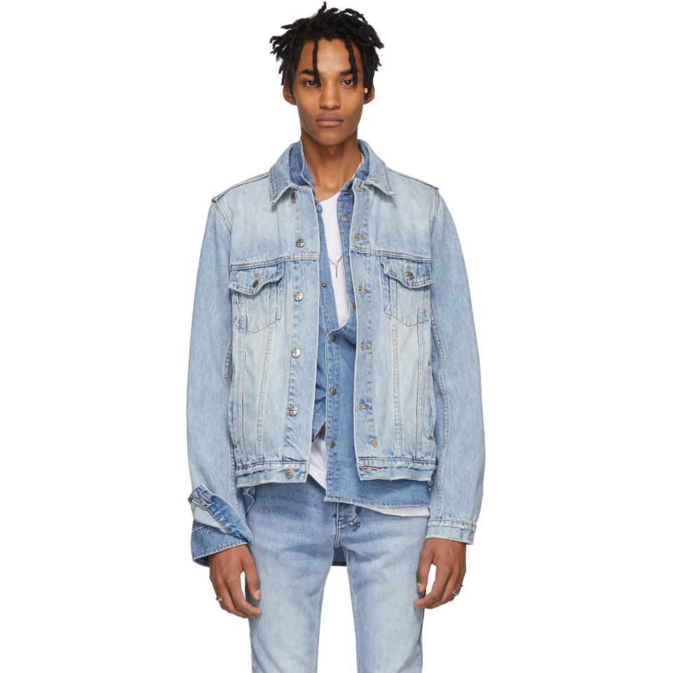 f86afd98d2 Lyst - Ksubi Blue Denim Classic Karma Jacket in Blue for Men