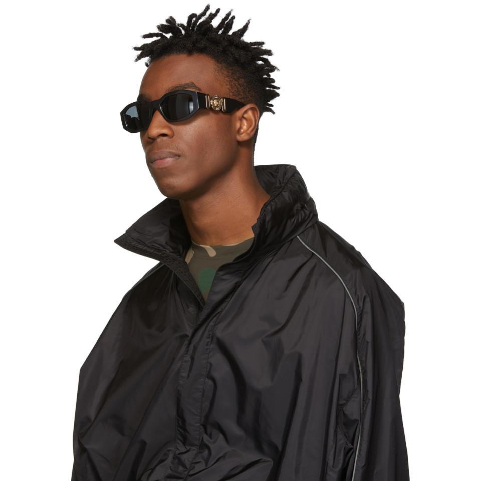 e173b4845d1e Versace Black Medusa Biggie Sunglasses in Black for Men - Lyst