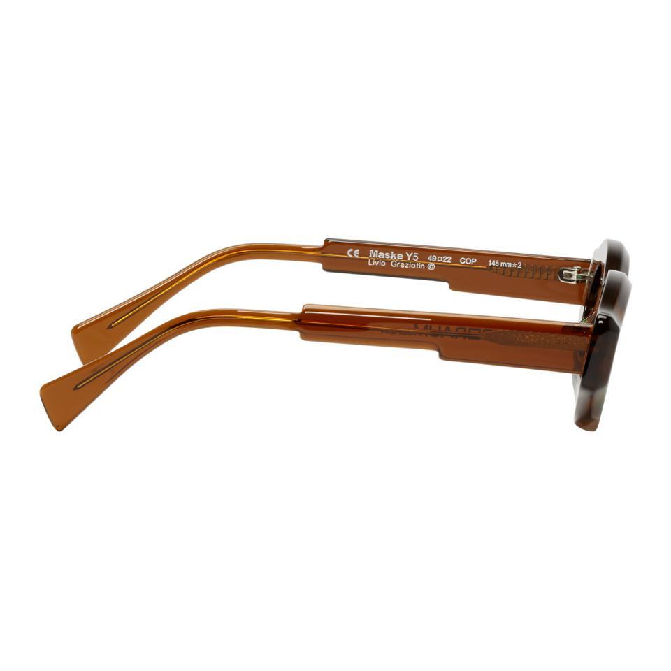 0c085d252a2 Kuboraum - Green Brown Y5 Cop Sunglasses for Men - Lyst. View fullscreen