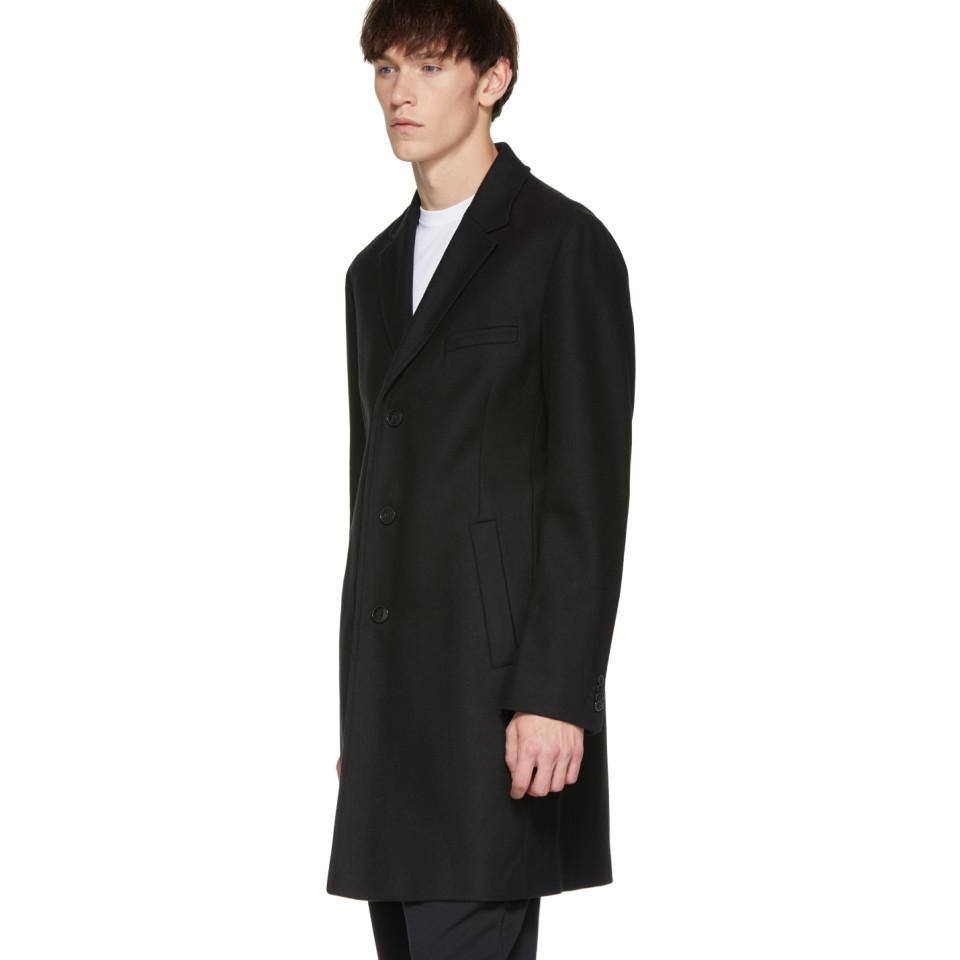 Black  Wool  4 Button Long Tuxedo Frock Coat Avalon 244