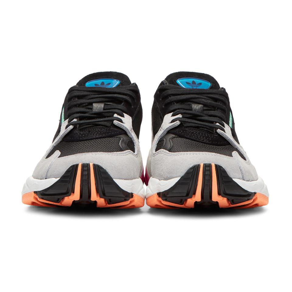 Grises Adidas Et Baskets Falcon Lyst Noires 90s Originals Running pzPwZ