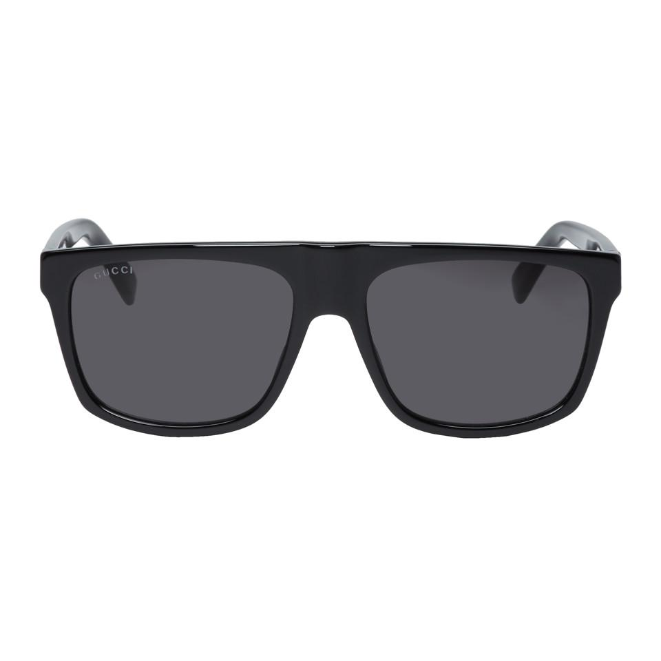 f33b18ff2fc2 Gucci Black And Grey Oversized Wearable Sunglasses for Men - Lyst