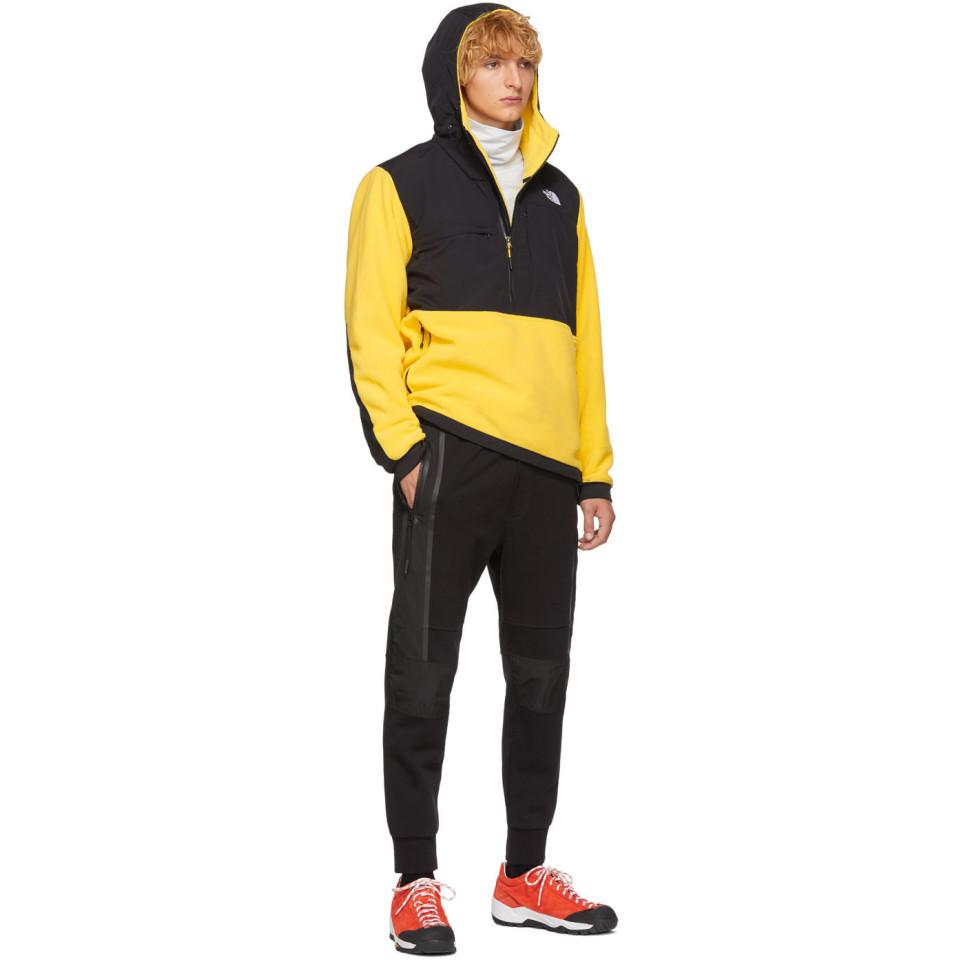 The North Face Fleece Yellow And Black Denali Anorak