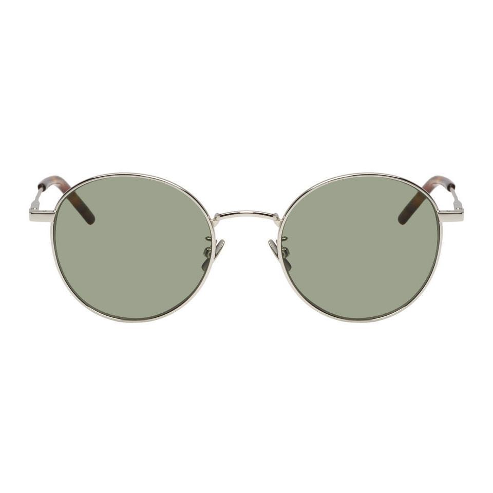 382caf1628 Saint Laurent Silver Classic Sl 250 Sunglasses in Metallic for Men ...