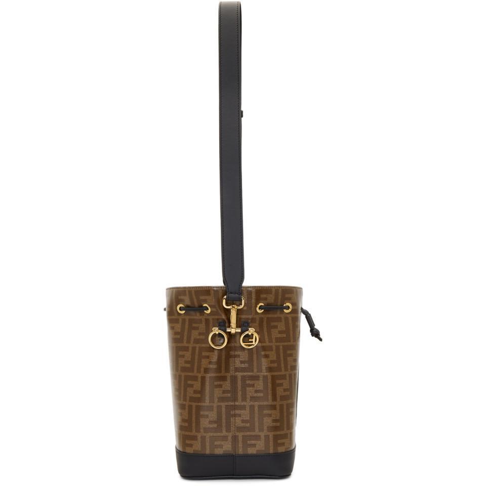 582214e17482 Fendi - Black And Brown Small Forever Mon Tresor Bag - Lyst. View fullscreen