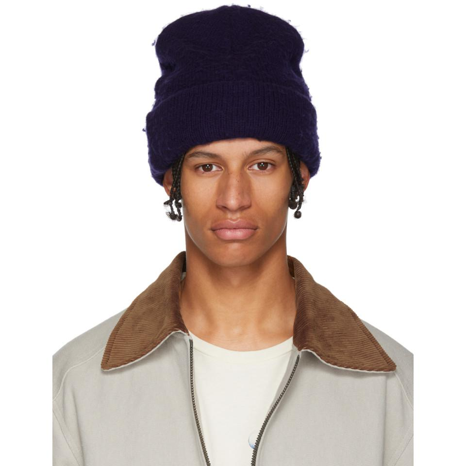 66d7f351d61 Lyst - Acne Studios Indigo Wool And Cashmere Beanie in Blue for Men