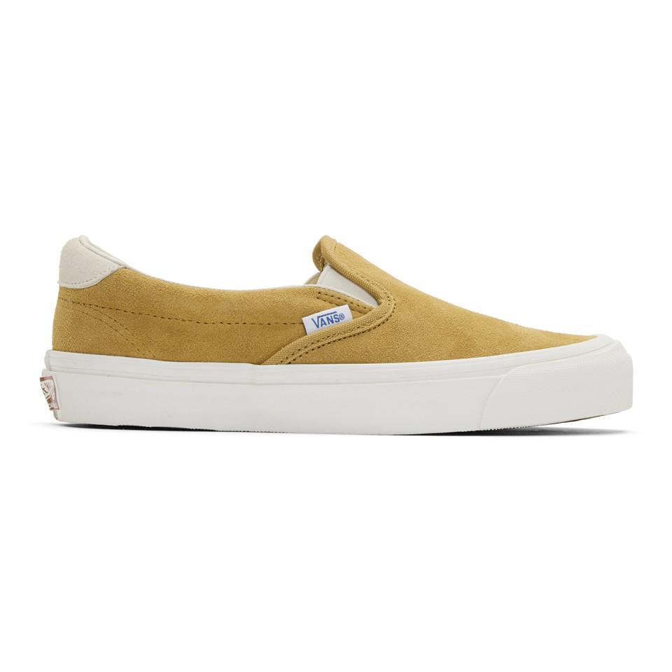 Yellow Suede OG 59 LX Slip-On Sneakers Vans 7nRJ2