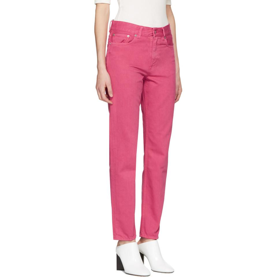 Acne Studios Denim Pink Boy Jeans