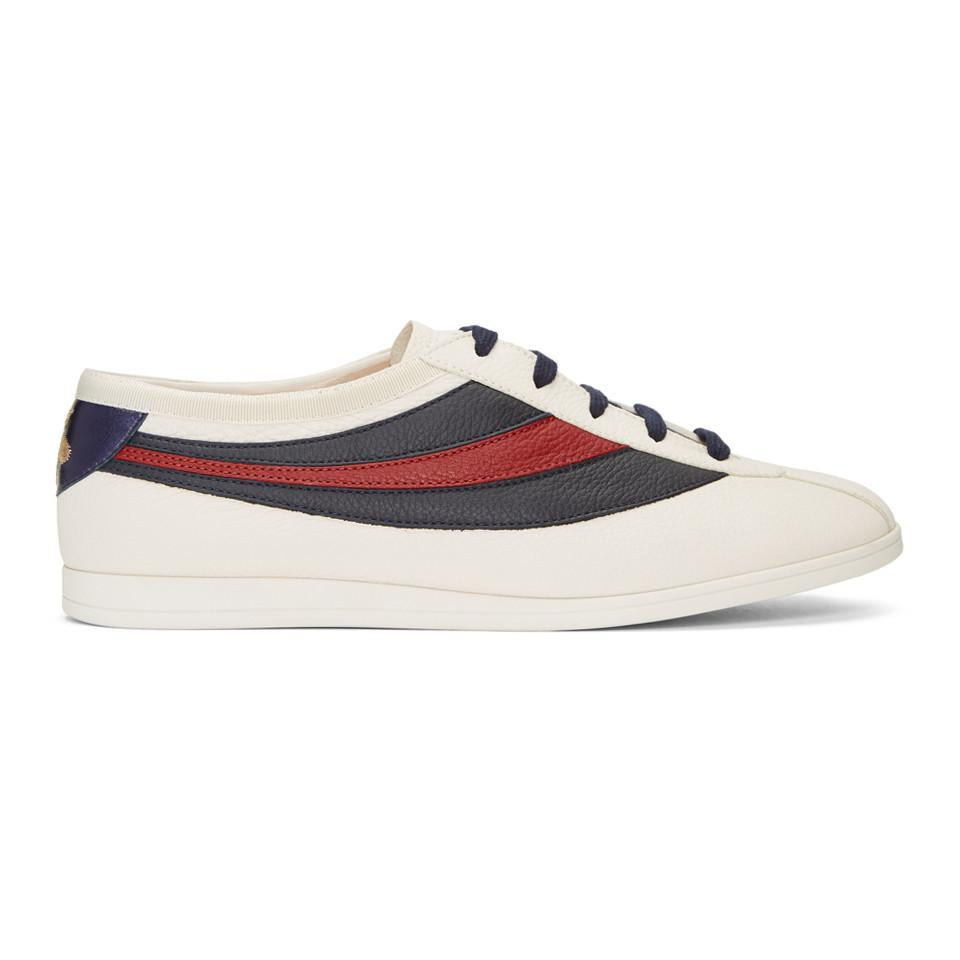 Gucci Leather Off White Competition Sneakers For Men Lyst