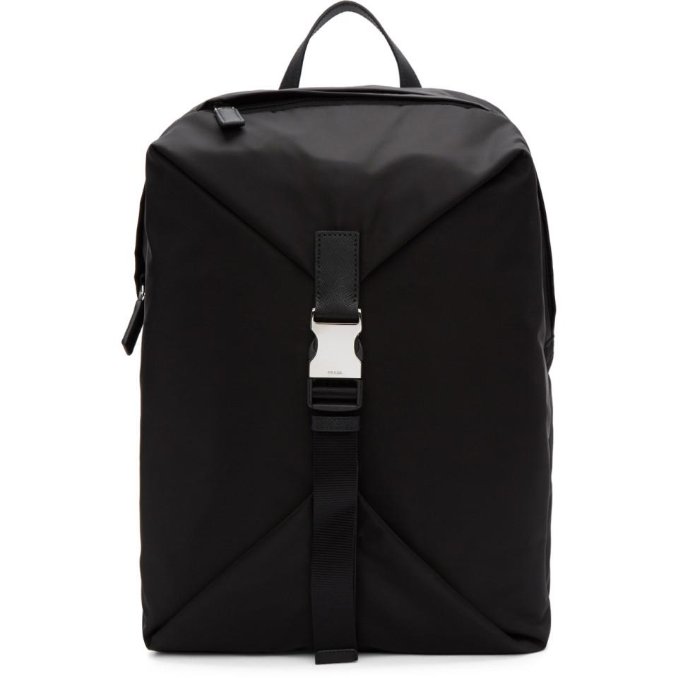9a9307a6a8df Prada Black Nylon Montagna Backpack in Black for Men - Lyst