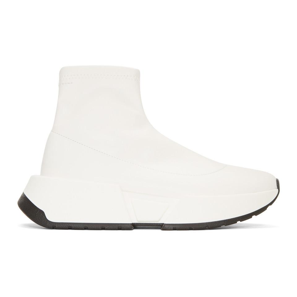 Black Second Skin Platform High-Top Sneakers Maison Martin Margiela tS5kyYOP5U