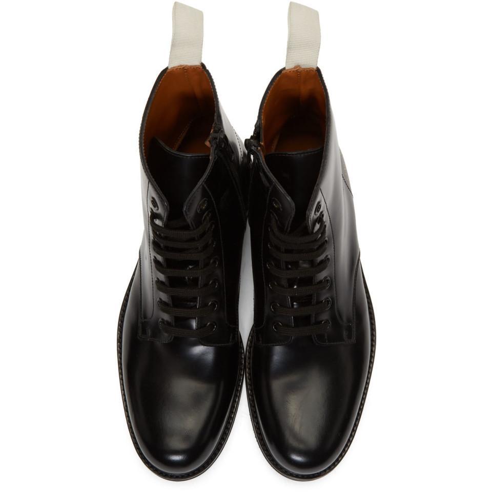 Bottes militaires noires Standard Cuir Common Projects pour homme en coloris Noir
