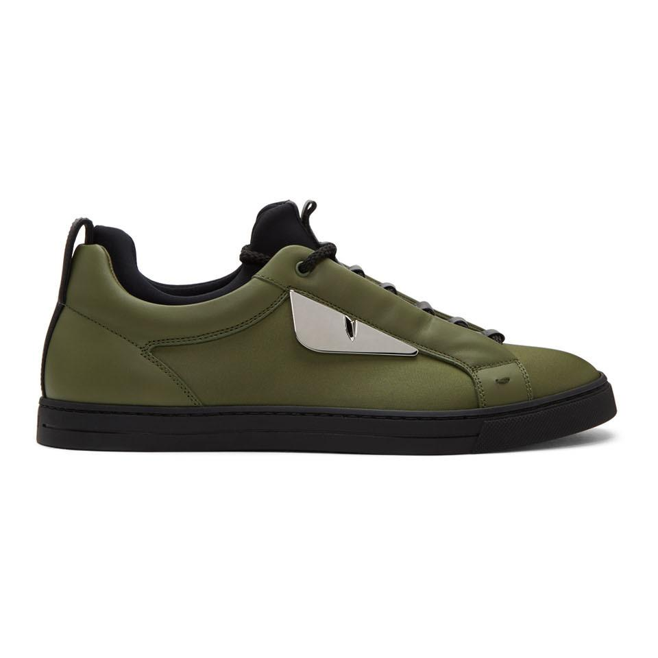 Jimmy Choo Green 'Bag Bugs' Sneakers tTZUp073qq