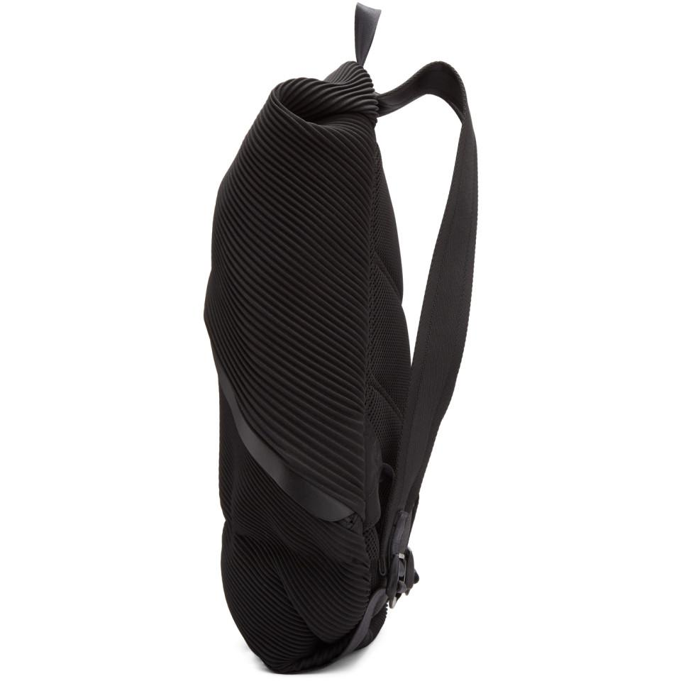 2e8fecabd3 Lyst - Pleats Please Issey Miyake Black June Bias Pleats Backpack in ...