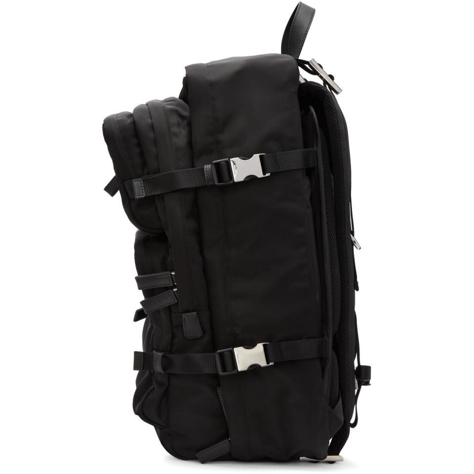edeb304943e5 Lyst - Prada Black Nylon Mountain Backpack in Black for Men