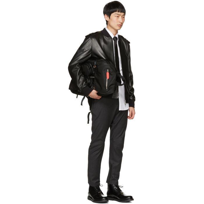 Neil Barrett Synthetic Black Nylon Flap Backpack for Men