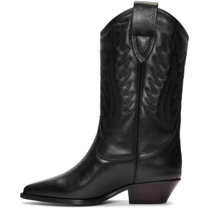 Leather Black Dallin Cowboy Boots