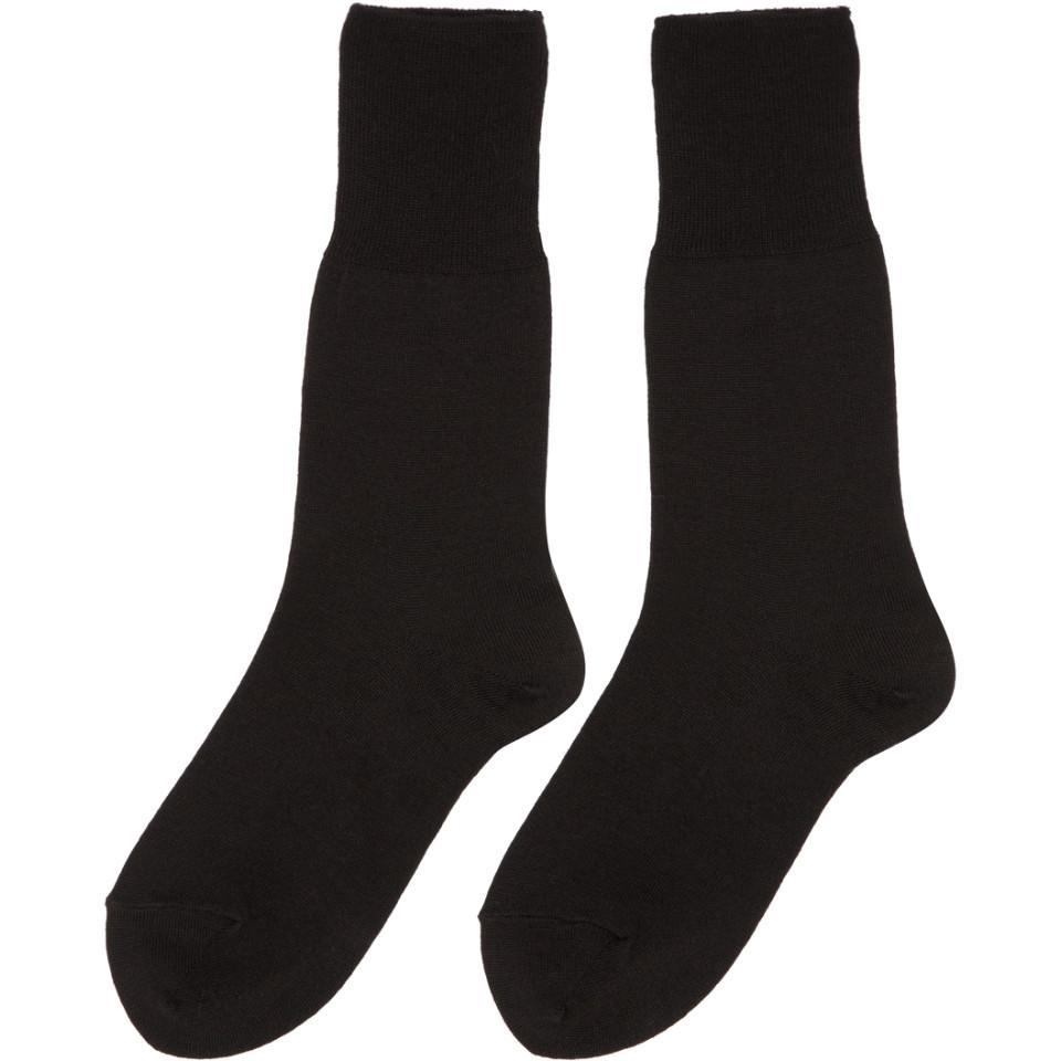 3dab48f8e1f Lyst - Comme des Garçons Black Long Jersey Socks in Black