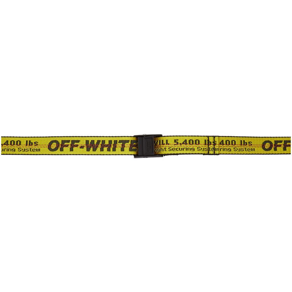 Off-White c o Virgil Abloh. Ceinture jaune et noire Mini Industrial femme 3ff612ac895