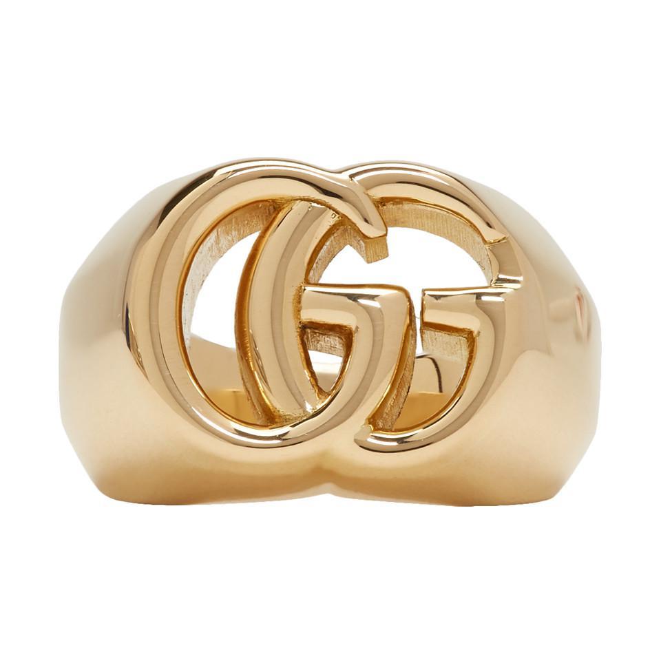 a74f1f4a4ae6 Lyst - Bague en or GG Running Gucci pour homme en coloris Métallisé