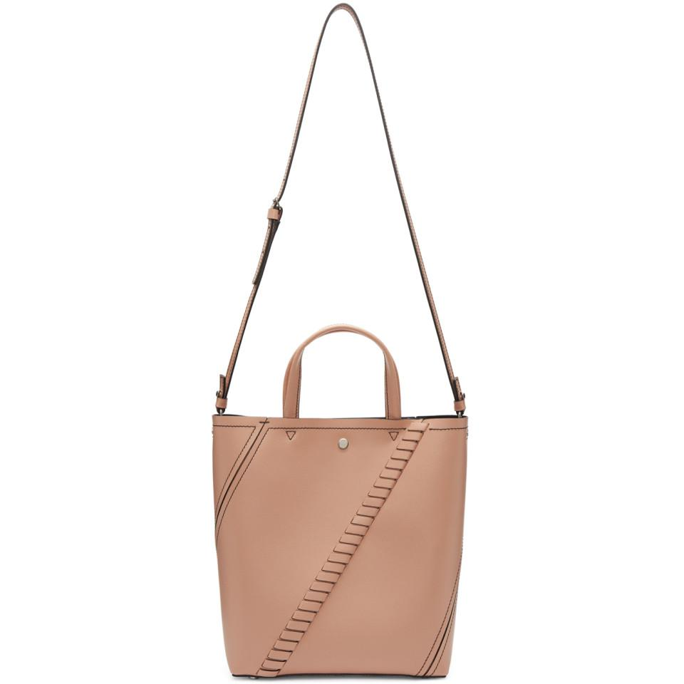 Proenza Schouler Leather Pink Hex Tote