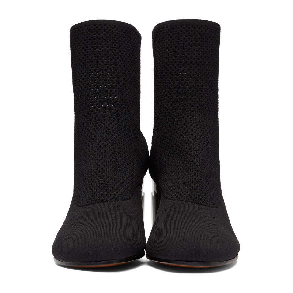 Clergerie Leather Black Keane Sock Boots