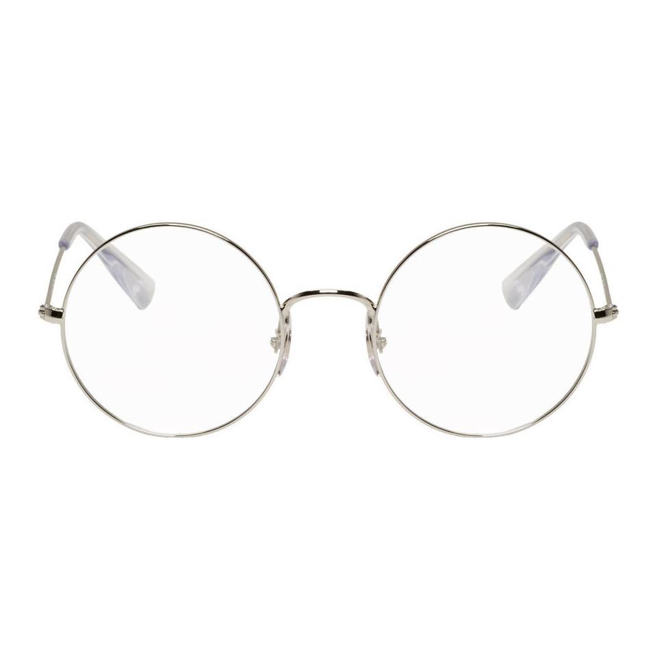 ba0c49347 Ray-Ban - Metallic Silver Ja-jo Round Glasses for Men - Lyst. View  fullscreen