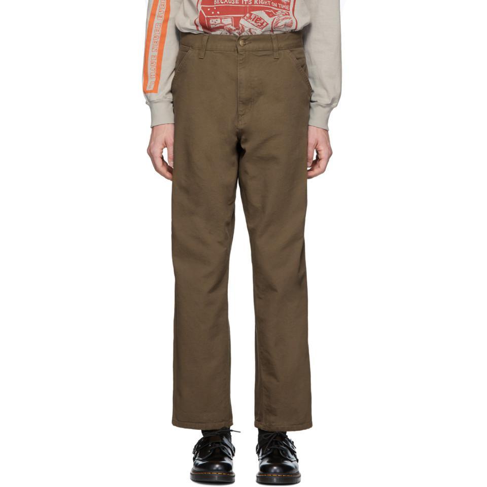 d41943d0c49 Lyst - Carhartt WIP Brown Single Knee Trousers in Brown for Men