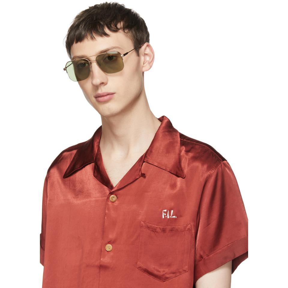 Raen Synthetic Gold Munroe Aviator Sunglasses for Men