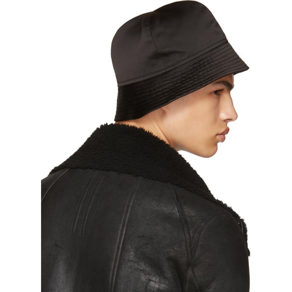 bbc95104f2425 Rick Owens Black Gilligan Bucket Hat in Black for Men - Lyst