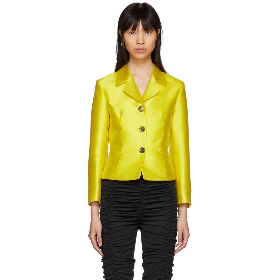 a157778419c69 Molly Goddard Yellow Apollo Blazer in Yellow - Lyst