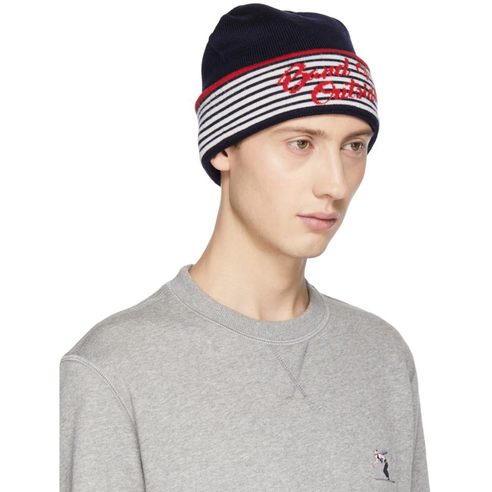 fb9cd1c28 Band of Outsiders Navy Alpine Band Beanie in Blue for Men - Lyst
