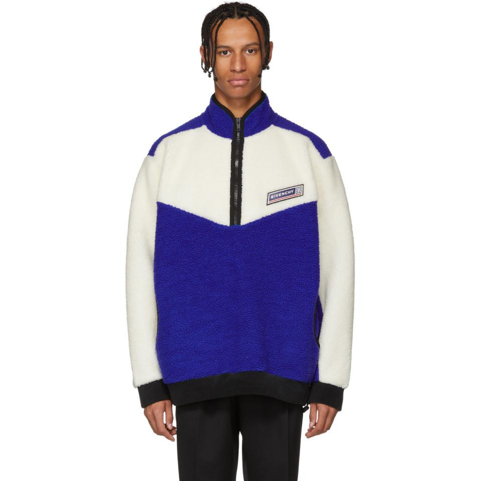 70478bd23e69 Lyst - Givenchy Blue Terry Pullover in Blue for Men
