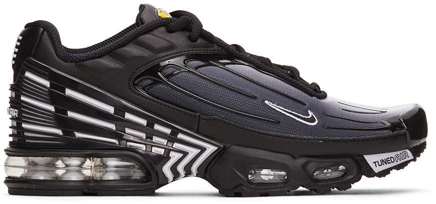 Nike Leather Air Max Plus Iii in Black/Black/White (Black) for Men ...