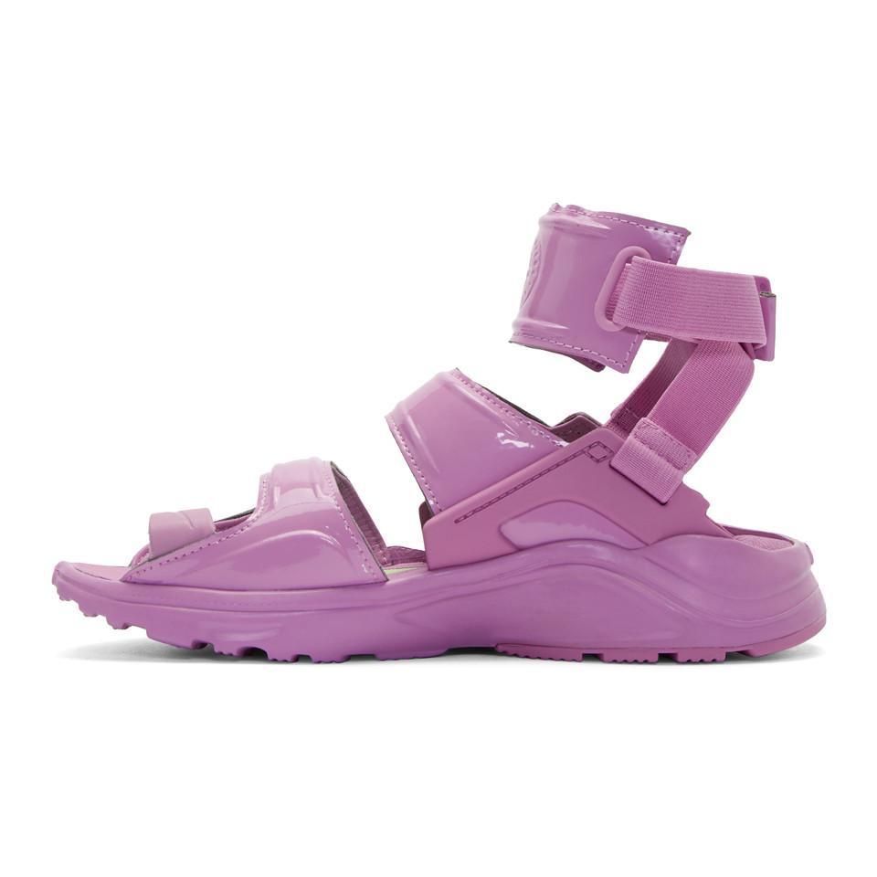 Nike Sandales Coloris Purple Air Huarache En Violettes Gladiator MGUVLSzqp