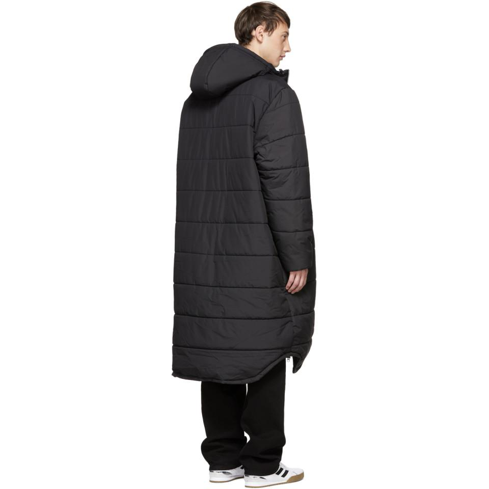 99ab59326 Gosha Rubchinskiy Black Adidas Originals Edition Long Puffer Jacket for men
