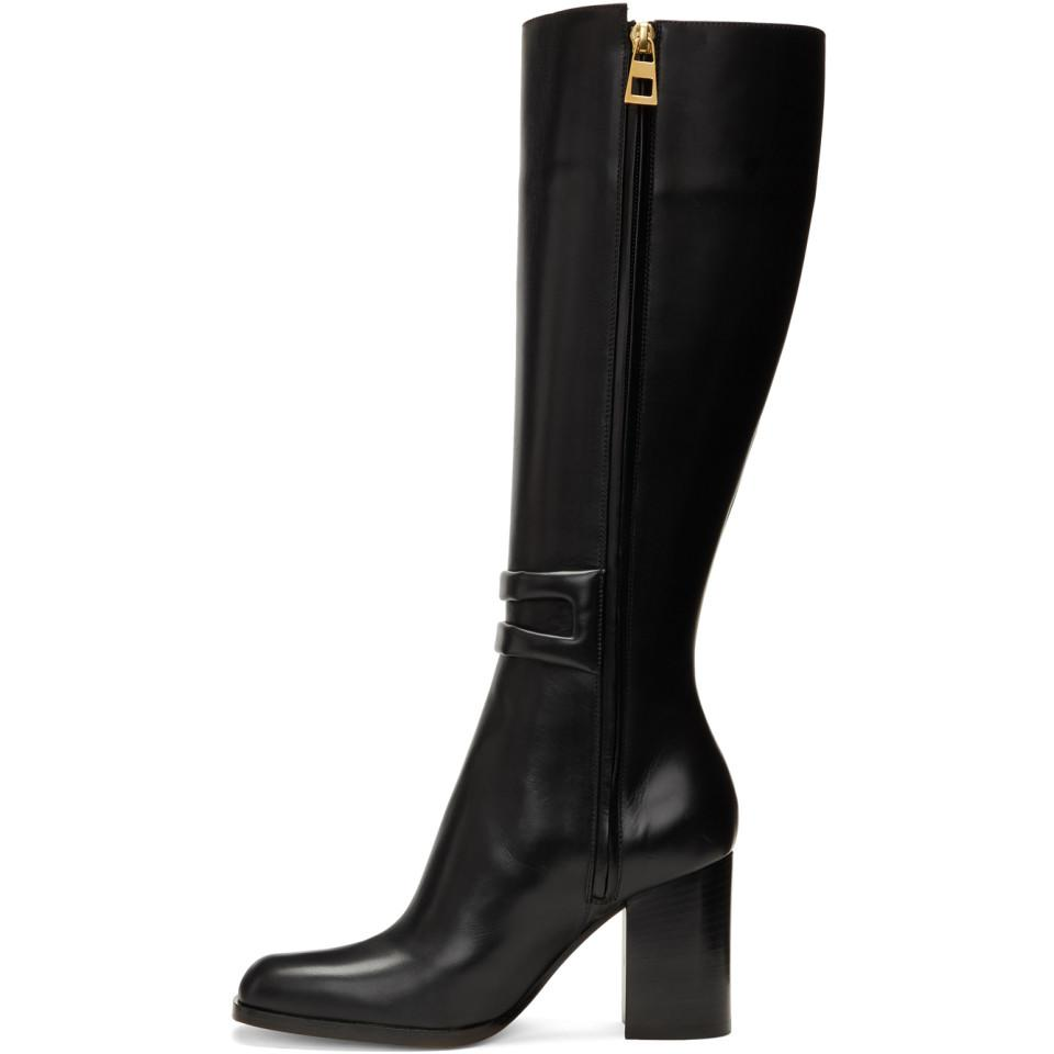 Loewe Square Zip Tall Boots ShIcXHY
