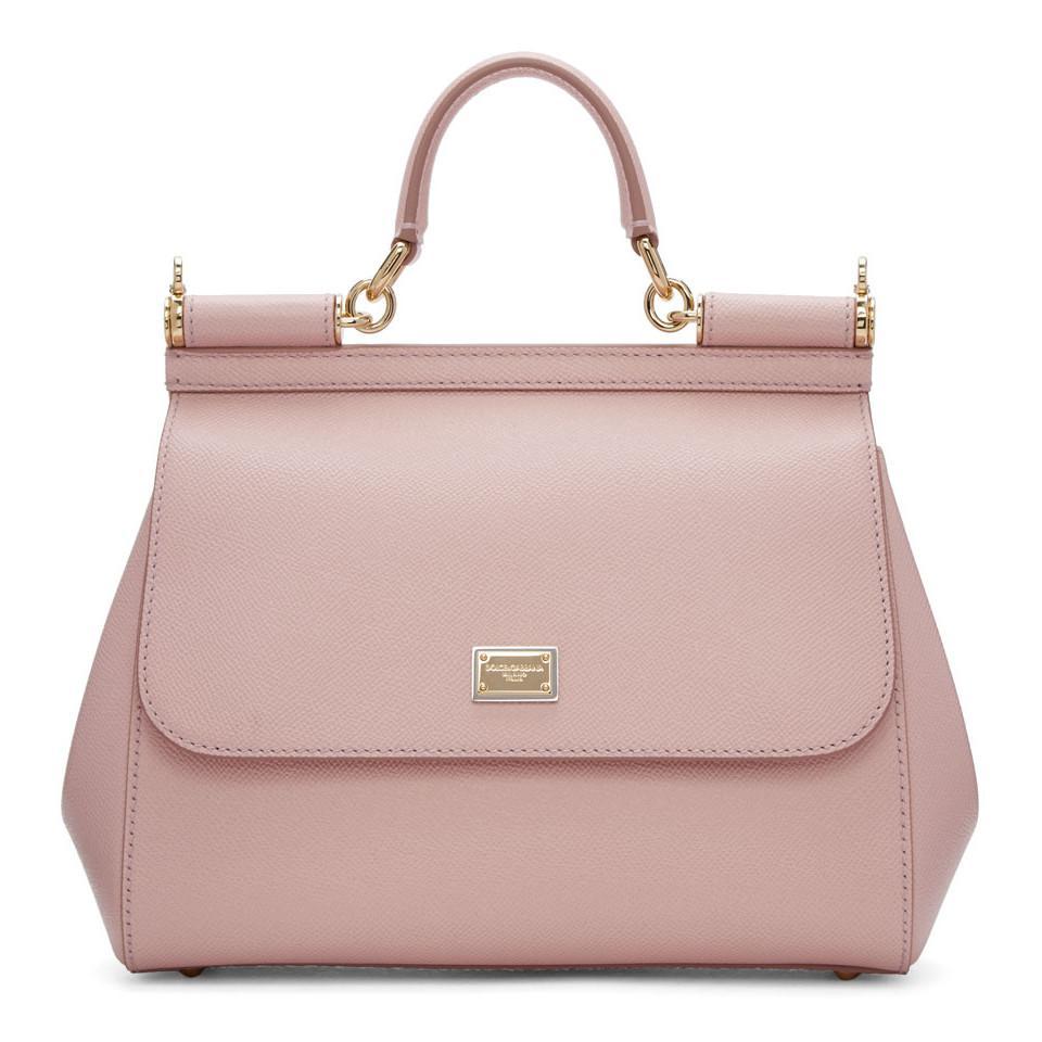 Dolce   Gabbana Pink Medium Miss Sicily Bag in Pink - Save 20.0% - Lyst f31aee163c7a2
