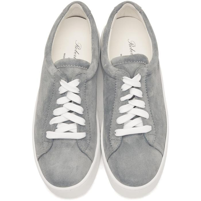 Grey Suede Tasket Sneakers Robert Clergerie
