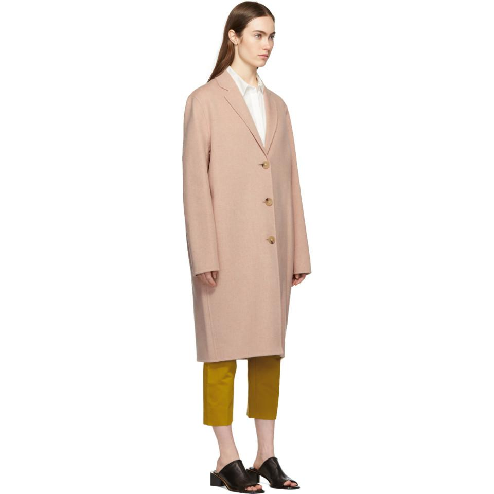 0cc758514 Lyst - Acne Studios Pink Avalon Double Coat in Pink