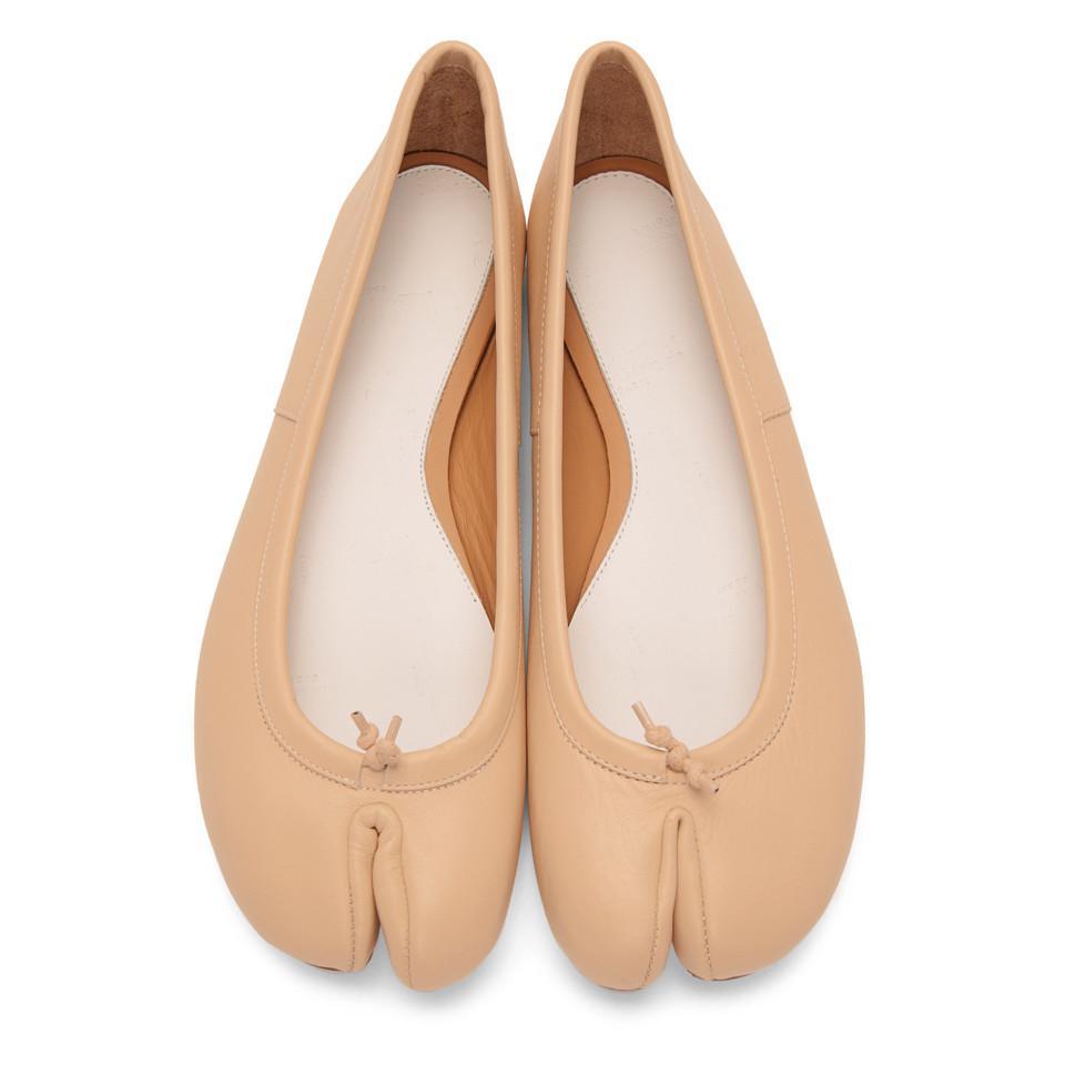 Margiela Maison Natural Ballerina Tabi Lyst Flats In Beige BTw4xgHq