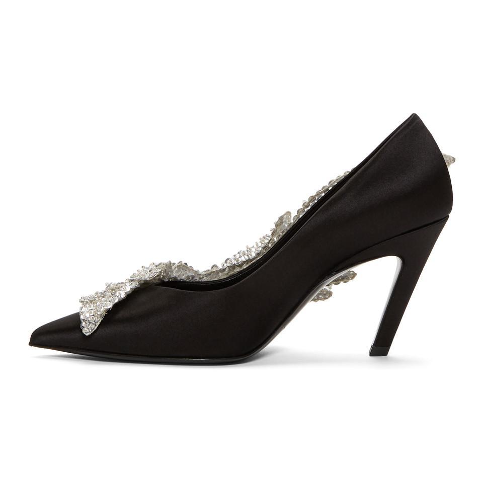 Black Sequin Slash Heels Balenciaga DKzWbyIH