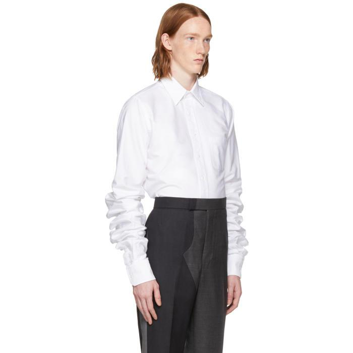 Lyst - Thom browne White Extra Long Sleeves Shirt in White for Men