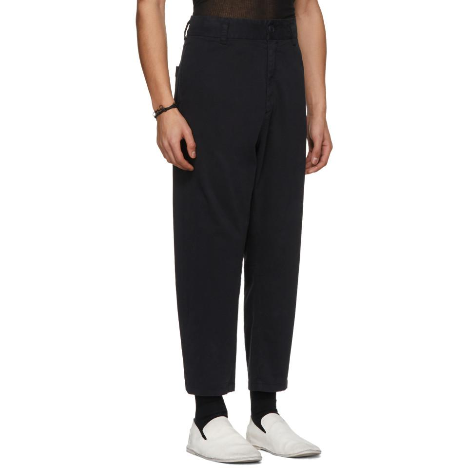Ann Demeulemeester Cotton Black Oreste Trousers for Men