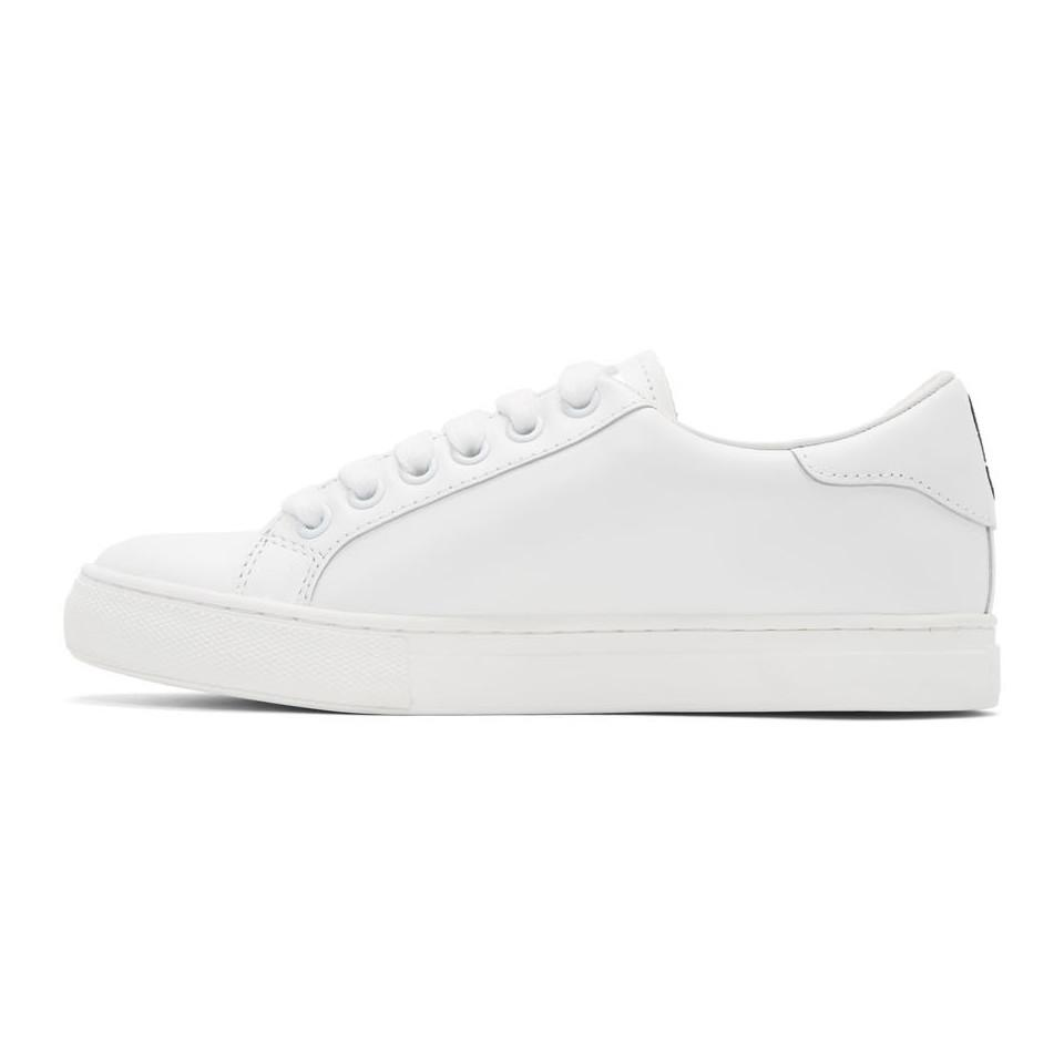 Marc Jacobs Leather White Empire Finger Sneakers