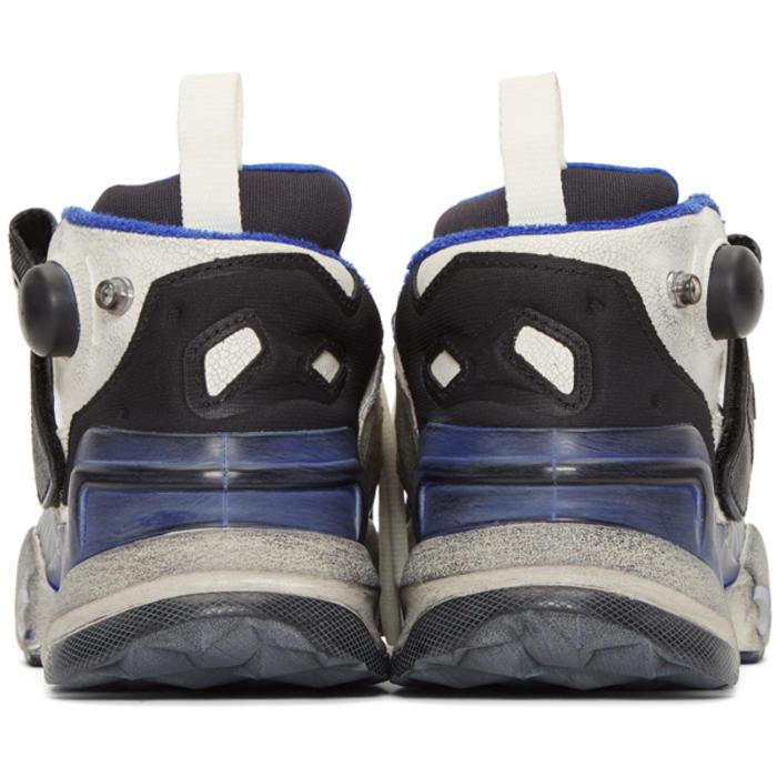 Vetements + Reebok Genetically Modified Pump Distressed Leather And Mesh Sneakers in White for Men
