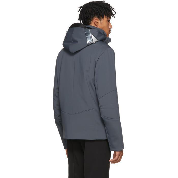 Fendi Fur Grey Bag Bugs Hooded Jacket in Grey for Men