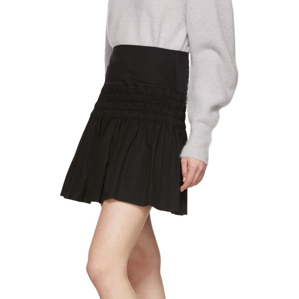 Mini-jupe noire Oliko Coton Étoile Isabel Marant en coloris Noir