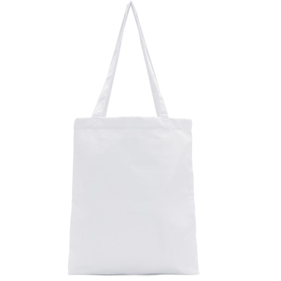 Opening Ceremony Cotton White Classic Logo Tote for Men